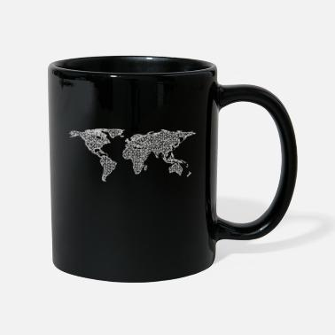 Map World Map Map Polygon World Thick World - Mug