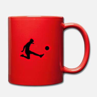 Grid Game Silhouette football red and black outline - Mug