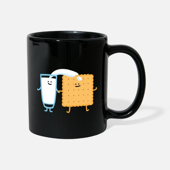 Cookie Mugs & Drinkware - Milk and biscuit - Mug black
