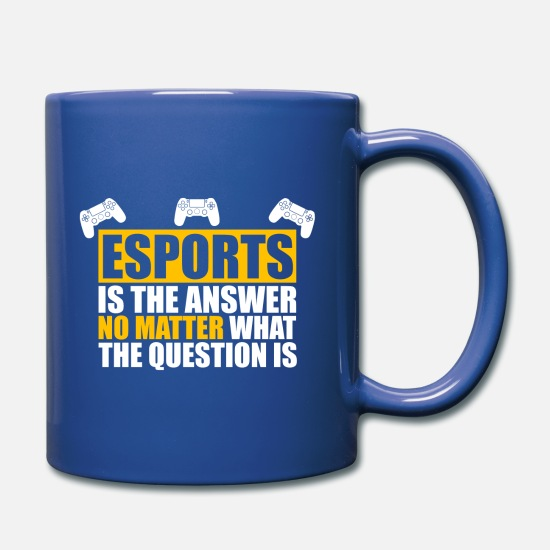 Esports Mugs & Drinkware - Esports Shirt Esports is the Answer - Mug royal blue