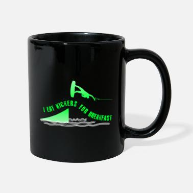 Wakeboard I eat kickers for breakfast Wakeboard Motiv Sprung - Tasse einfarbig
