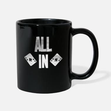 Full House Poker ALL IN Card Poker Texas Hold'em - Taza de un color