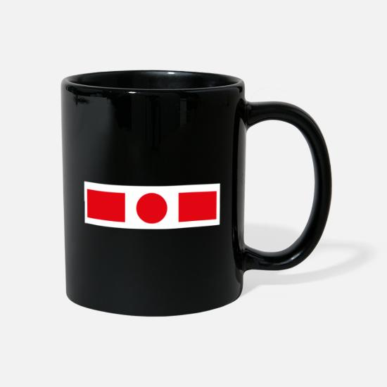 Physique Mugs et récipients - rectangle de cercle - Mug noir