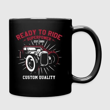 Ready to Ride a V8 Muscle - Tasse einfarbig