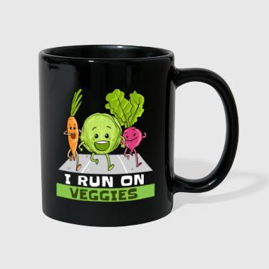 I Run On Veggies Veganer Vegetarier Läufer Laufen - Tasse einfarbig