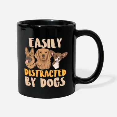 Dog Dog Easily Distracted by Dogs Dogs Gift - Full Colour Mug