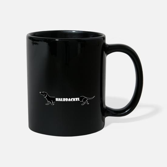 Swim Mugs & Drinkware - Half Dachshund Swabian Fun fun dialect Swabia - Mug black