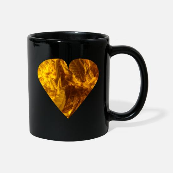 Love Mugs & Drinkware - Cannabis Heart, Potheads, Marijuana, Legalize It! - Mug black