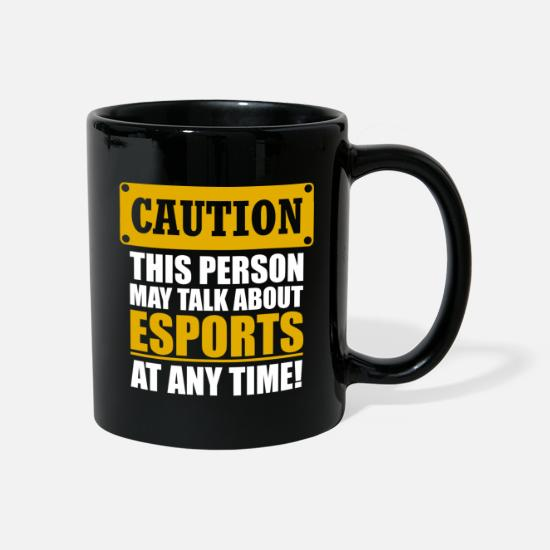 Esports Mugs & Drinkware - Esports Shirt Caution - Mug black