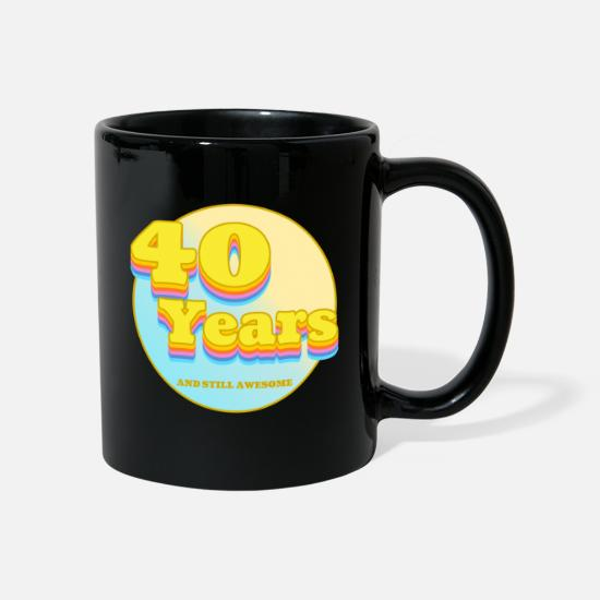 Surprise Mugs & Drinkware - 40th birthday silent awesome 80s gift for the 40th - Mug black