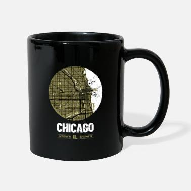 Windy City Chicago | Design Stadtplan | Vintage City Map - Taza