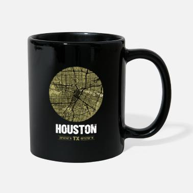 City Map Houston | Design City Map | Vintage City Map - Mug