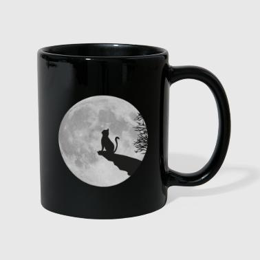 Roca de  la gato Luna Luna llena kitty cat - Taza de un color