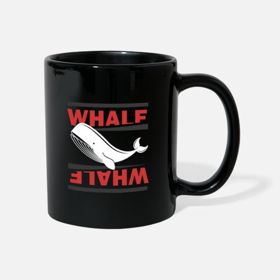 Gift Idea Mugs & Drinkware - Whale diving oceanographer whale blue whale whales - Mug black