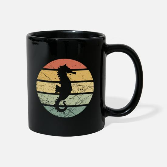 Marine Animal Mugs & Drinkware - Sea horse sea creatures gift sea seafaring - Mug black