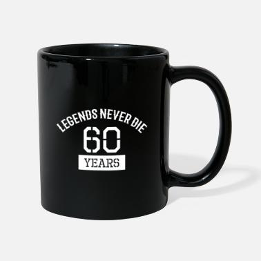 Birthday 60 gift saying sayings gift idea - Full Colour Mug