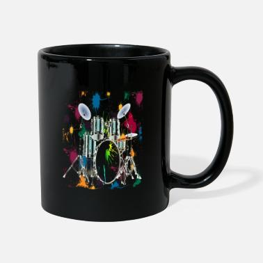 Drummer Drums Drum Set Drummer Drums Graphic Design - Full Colour Mug