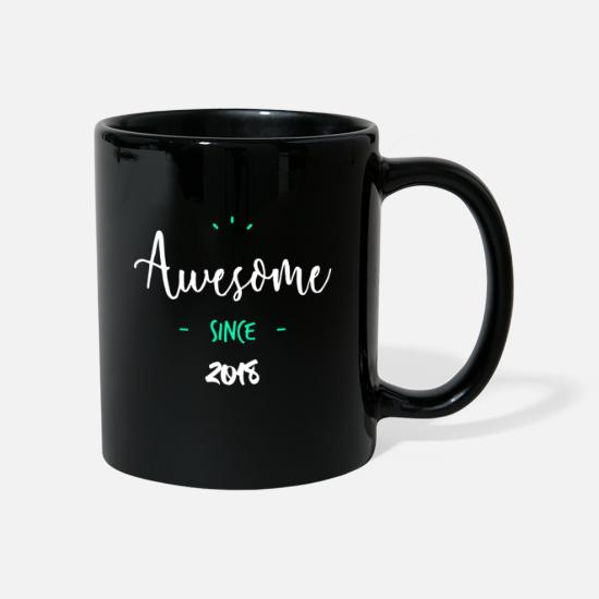 2018 Mugs et récipients - Awesome since 2018 - - Mug noir