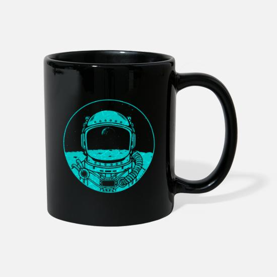 Saturn Mugs & Drinkware - Moon moon landing 1969 Apollo USA astronaut - Mug black
