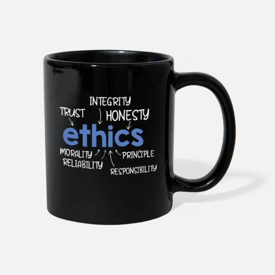 Teacher Mugs & Drinkware - Ethics word description - Mug black