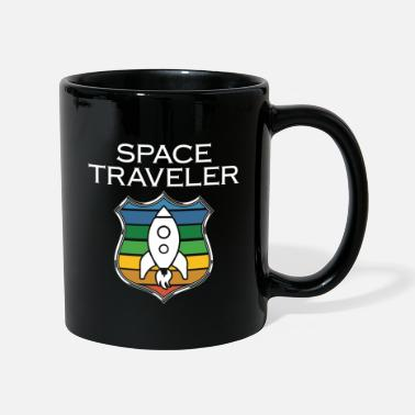 Student Astronaut medal badge icon with rocket - Mug