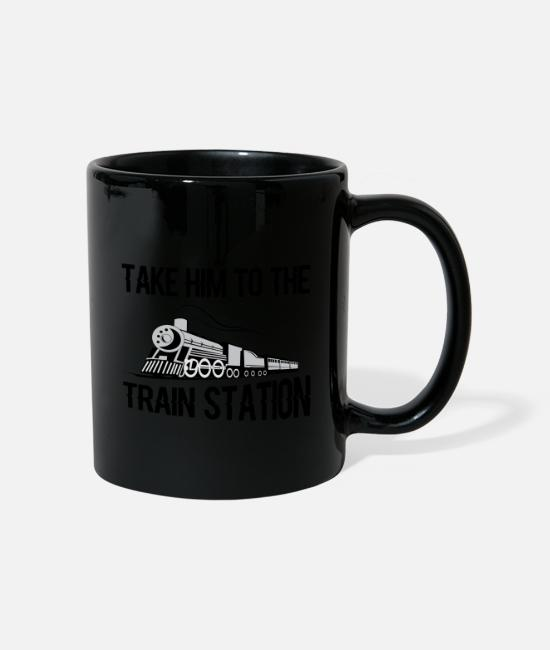 Training Mugs & Drinkware - Take Him To The Train - Mug black