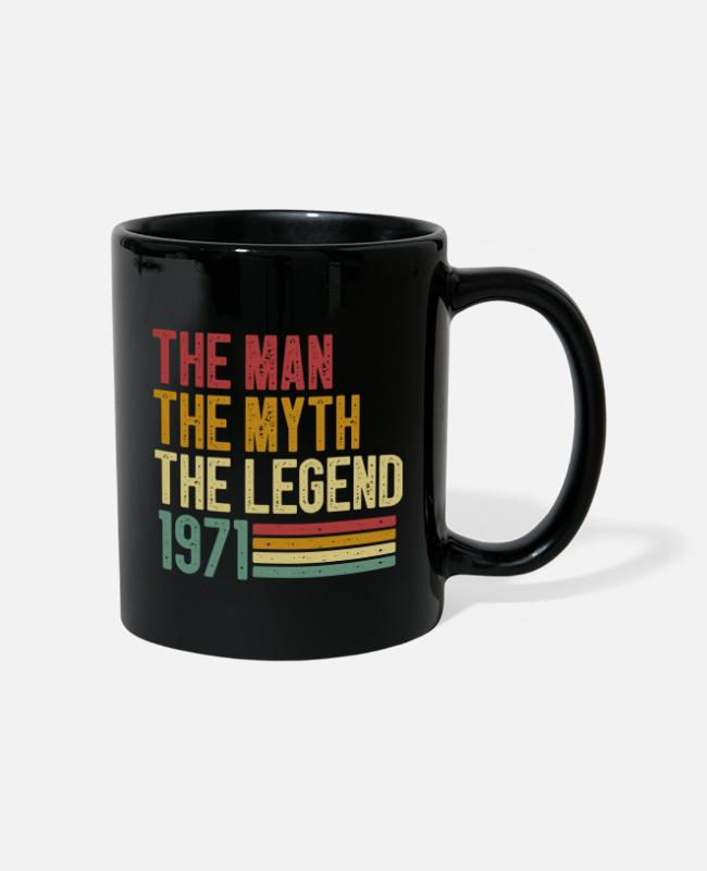 Gift Mokken & toebehoor - The Man The Myth The Legend 1971 - Mok zwart