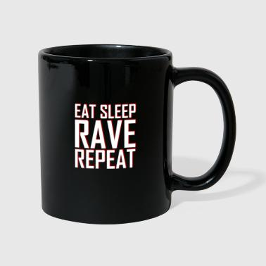 Elektro EAT SLEEP RAVE REPEAT | Festival fest gave - Ensfarvet krus