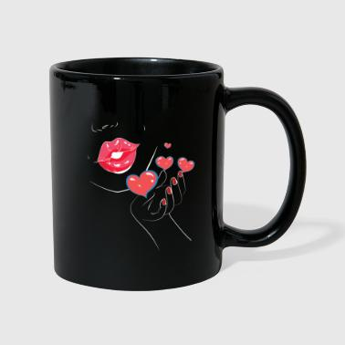 Kissing Lips Kiss - Kiss - Kiss - Lips - Lips - Full Colour Mug