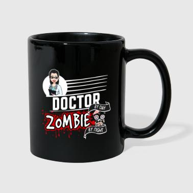 Female Doctor - Zombie by night - Tasse einfarbig
