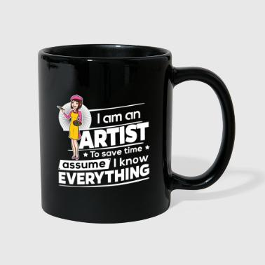 Female Artist - To Save Time - Full Colour Mug