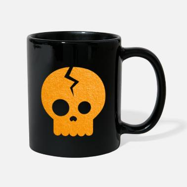 Halloween cráneo - Taza de un color
