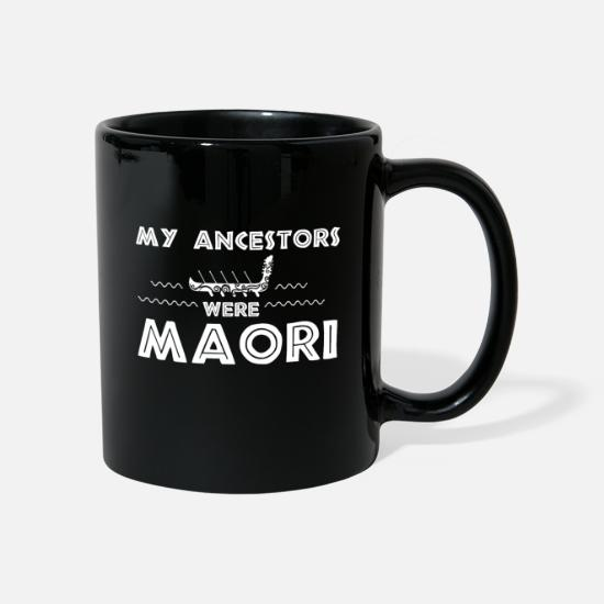 Travel Mugs & Drinkware - Maori My Ancestors were Maori's Waka gift idea - Mug black