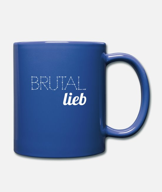 Heart Mugs & Drinkware - Brutal dear white - Mug royal blue