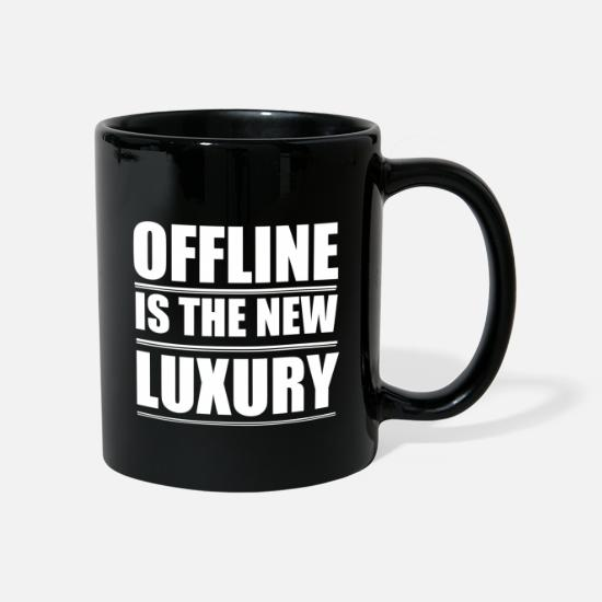 Offline Mugs & Drinkware - Offline Is The New Luxury - Mug black