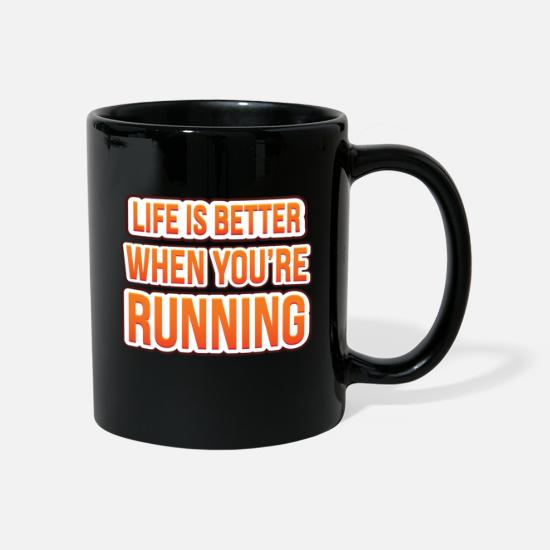 Young Mugs & Drinkware - Life is better when you're running - Mug black