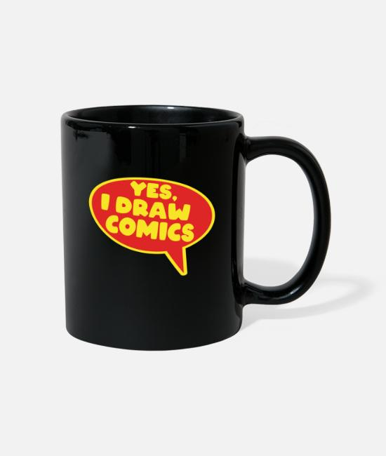 Draw Mugs & Drinkware - Comics draw comic artist comic artist - Mug black