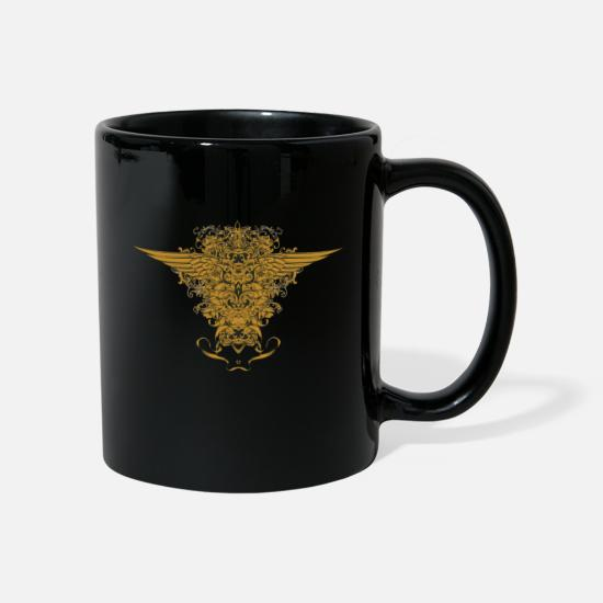 Wings Mugs & Drinkware - Floral Wings - Mug black