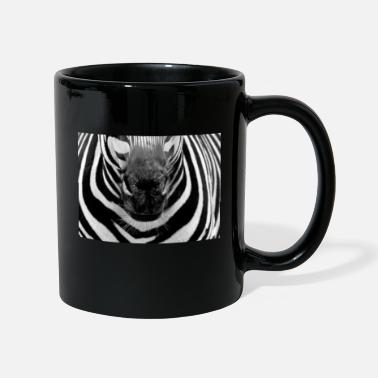 Zebra face mask safari mask wilderness - Mug