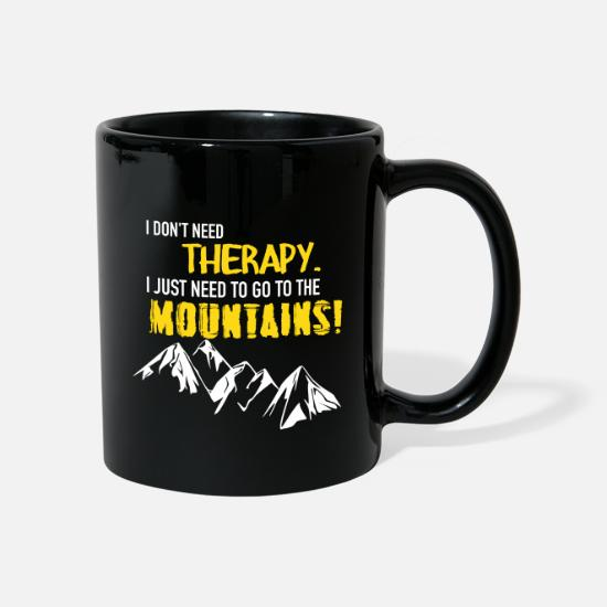 Funny Mugs & Drinkware - Therapy Mountains - Mug black