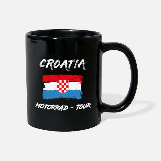 Carte Mugs et récipients - Croatia Motorcycle Tour Croatie - Mug noir