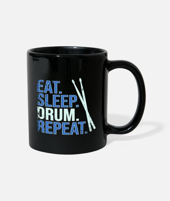 Drummer Mugs & Drinkware - Eat. Sleep. Drum. Repeat. - Mug black