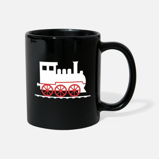 Stench Mugs & Drinkware - Steam locomotive steam smoke smoke train - Mug black
