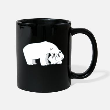 Cute Polar Bear Mum And Cubs by Cheerful Madness!! - Mug