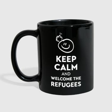 Keep calm and welcome the Refugees - Kubek jednokolorowy