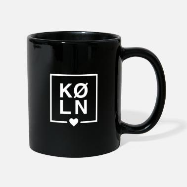 Stylish cologne lettering with heart - Mug