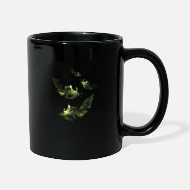 green feather feathers - Mug