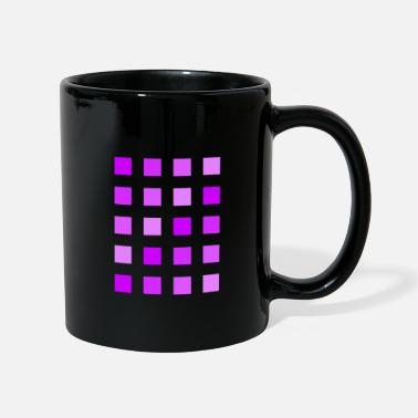 Lilac Purple violet lilac squares - Full Colour Mug