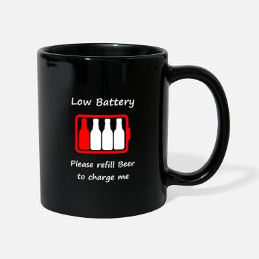 Low Battery - Please refill Beer to charge me - Mug