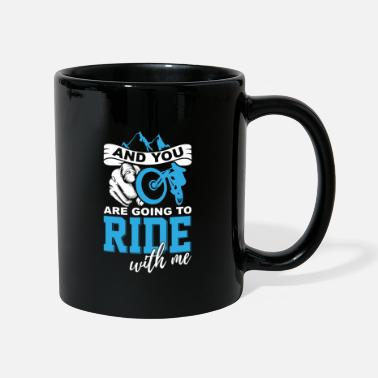 Mountain Bike Mountain bike bicycle in the mountains - Full Colour Mug